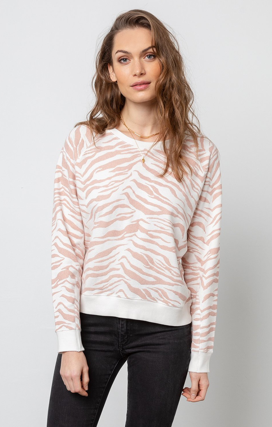 Theo Sweatshirt Blush Tiger Stripe - Rails