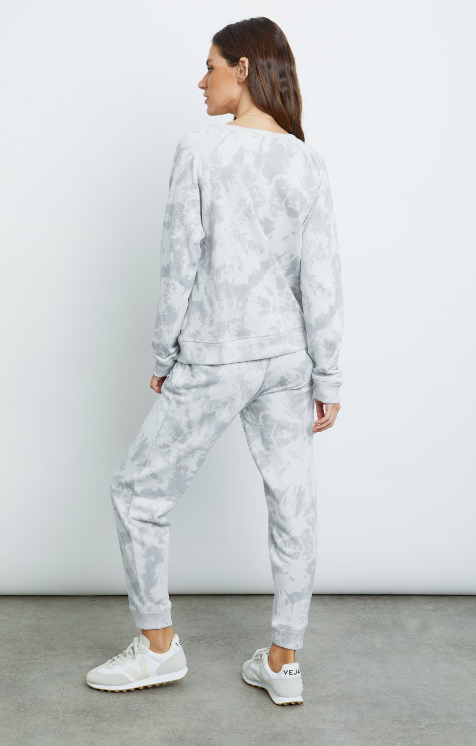 Theo Sweatshirt - Circle Grey Tie Dye