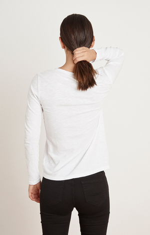 Blaire LS V Neck - White
