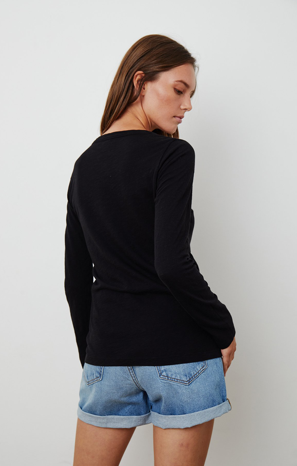 Lizzie L/S Top - Black