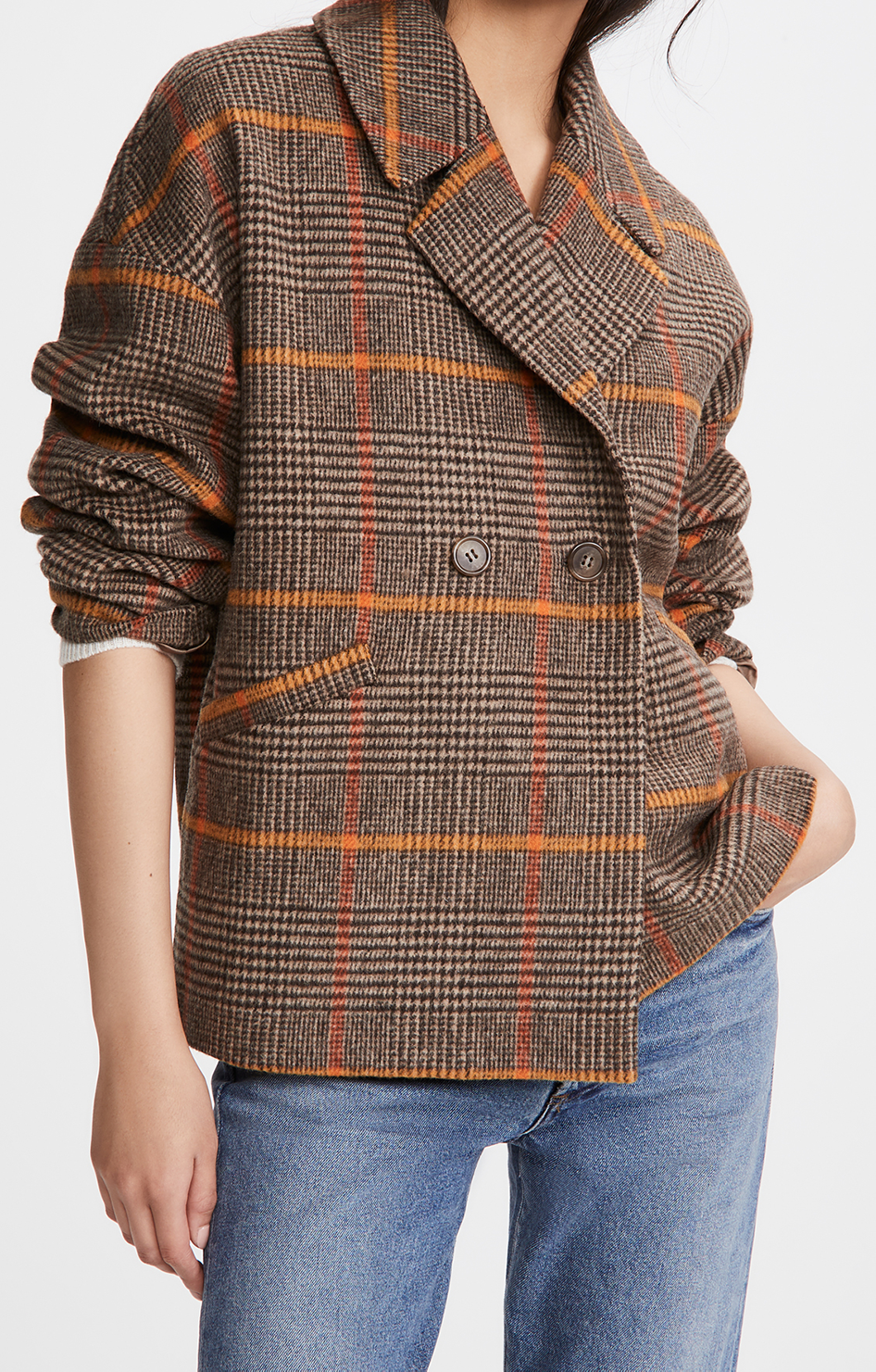 Rhona Wool Coat - Plaid