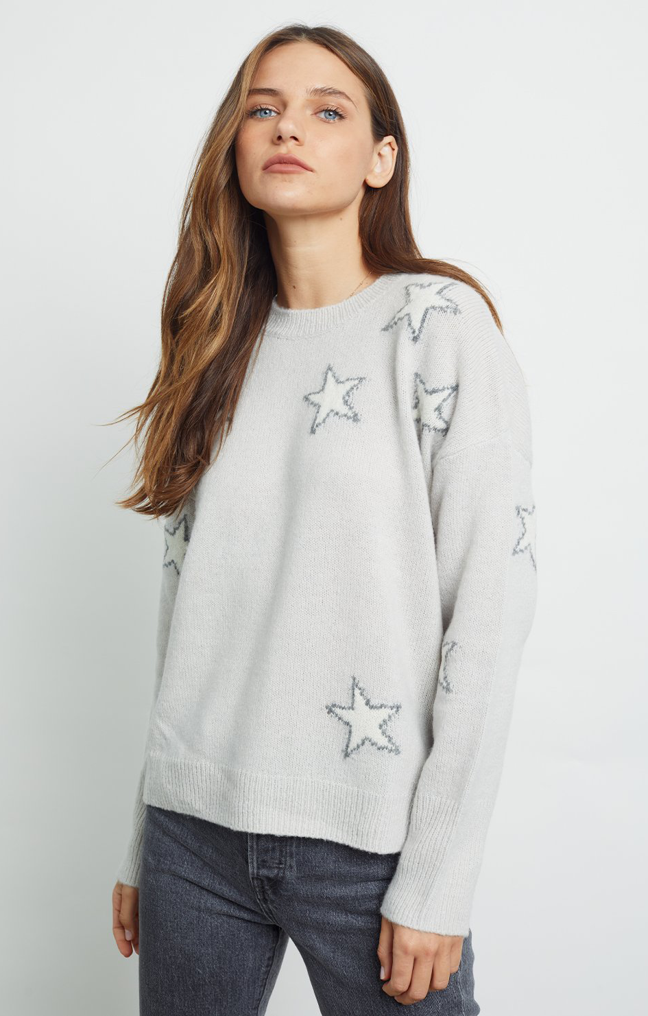 Virgo Sweater - Grey White Star