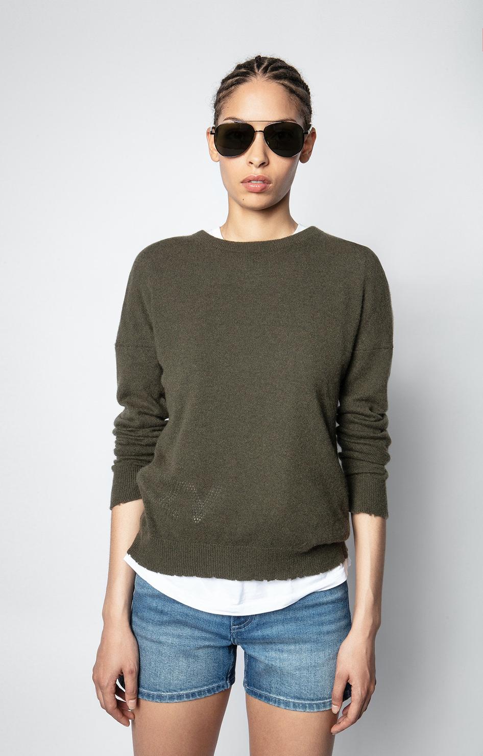 Restock - Cici Patch Stars Cashmere Sweater
