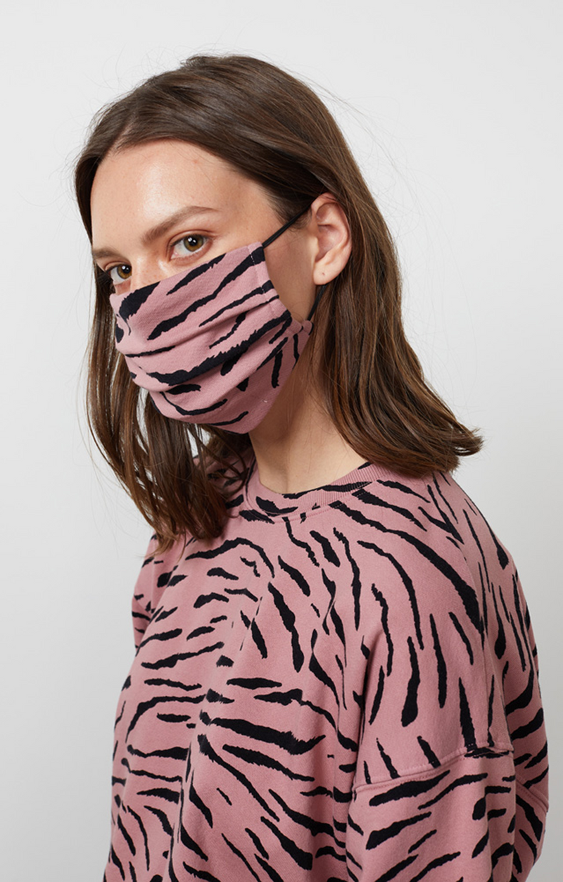Viena - Zebra Fleece Mask - Taffy