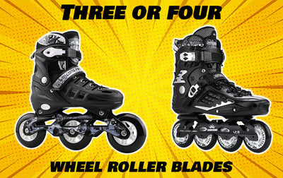Three or four-wheel roller blades?