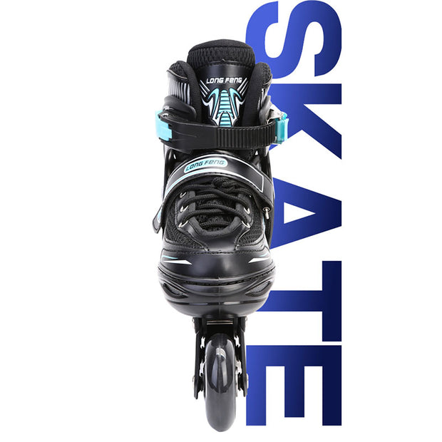 Flashing Roller Blades Kids Inline Skates Freestyle Adjustable