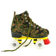 Adult Camouflage Flash Roller Skates For Beginners