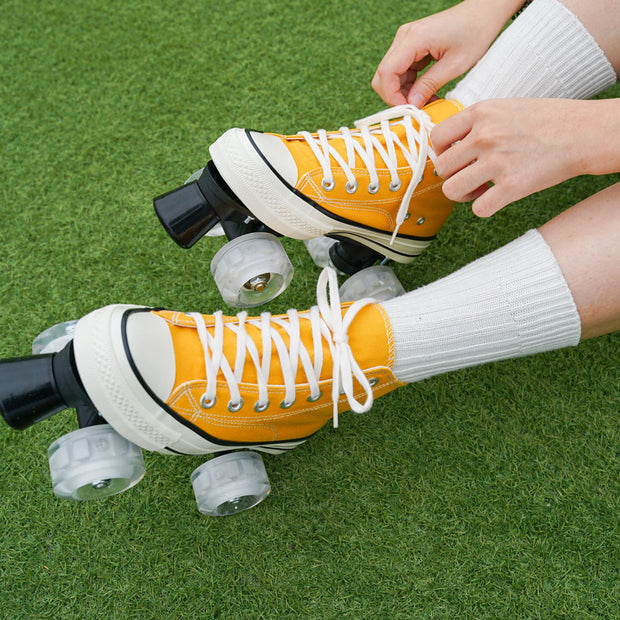 Vintage Sneaker Style Roller Skates, Yellow