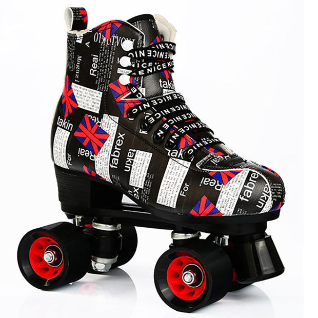 Adult & Kids Quad Roller Skates Outdoor Roller Skates Night Smooth Skates
