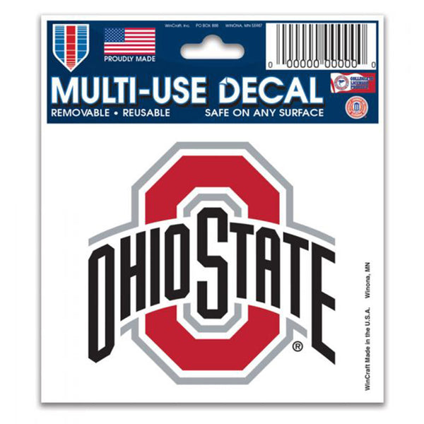 "Ohio State 3""  X  4"" Decal"