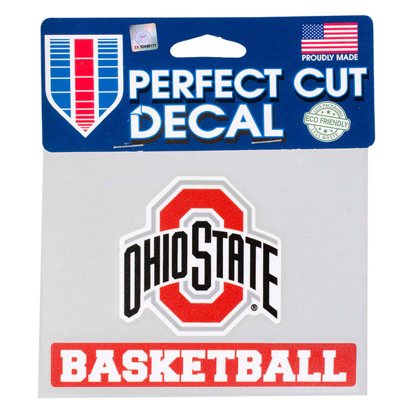 "Ohio State Basketball 4"" x 5"" Decal"