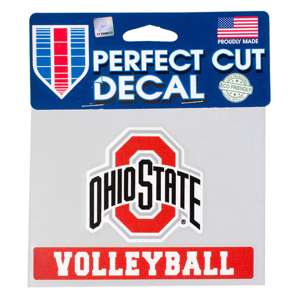 "Ohio State Volleyball 4"" x 5"" Decal"