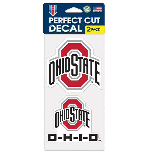 "Ohio State Perfect Cut 4"" X 4"" 2 Pack Decal"