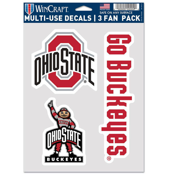 "Ohio State 5.5"" X 7"" 3 Pack Decal"