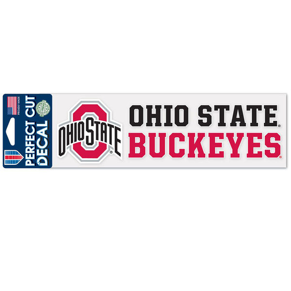 "Ohio State Perfect Cut 3"" X 10"" Decal"