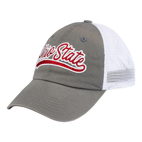 Ladies Ohio State Glimmer Trucker Adjustable Hat