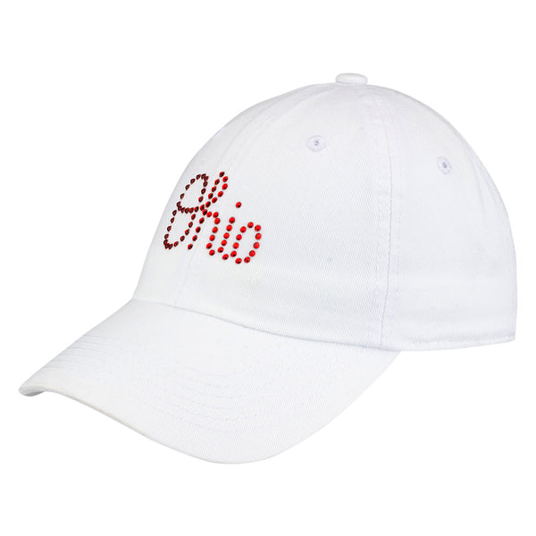 Ladies Ohio State Script Studded Adjustable Hat