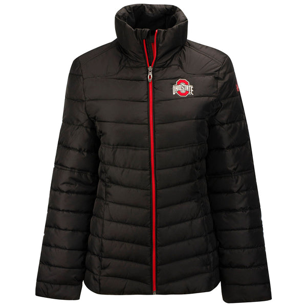 Ladies Ohio State Buckeyes Supreme Puffer Jacket