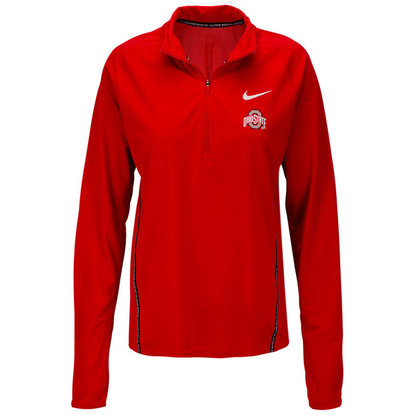 Ladies Ohio State Buckeyes Nike Element Half-Zip Jacket