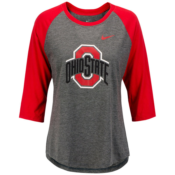 Ladies Ohio State Nike Raglan T-Shirt