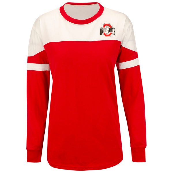 Ladies Ohio State Buckeyes Downfield Long Sleeve T-Shirt