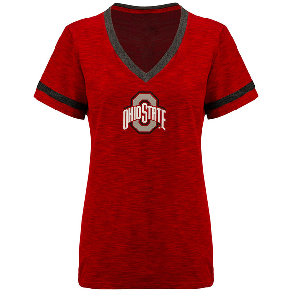 Ladies Ohio State Nike Slub V-Neck T-Shirt