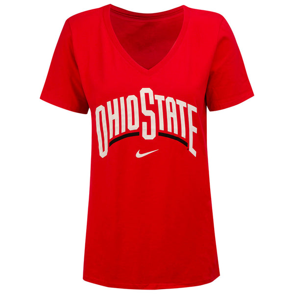 Ladies Ohio State Wordmark Nike T-Shirt