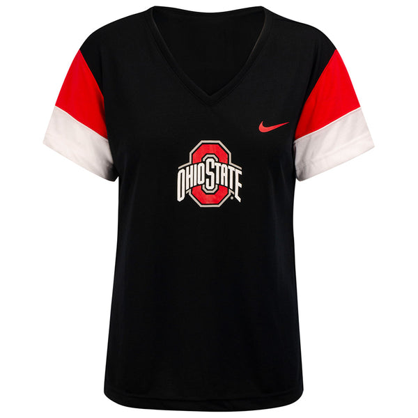 Ladies Ohio State V-Neck Breathe T-Shirt