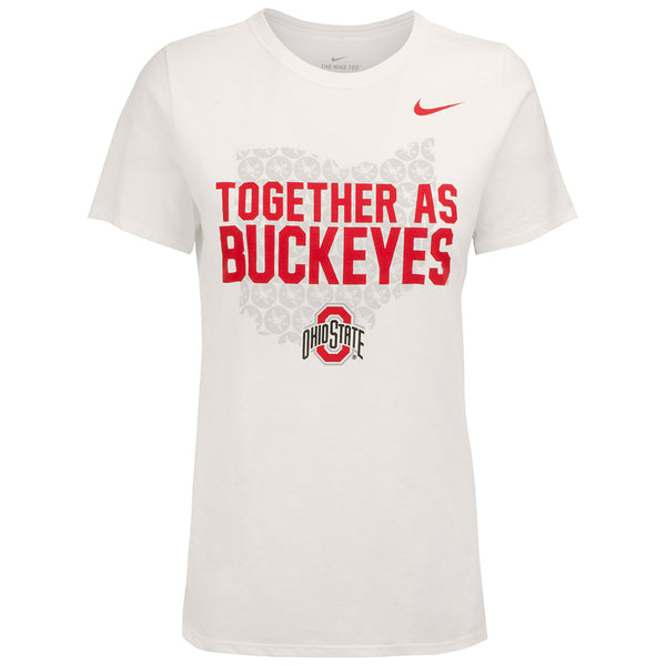 Ladies Ohio State Nike Together As Buckeyes Fan T-Shirt