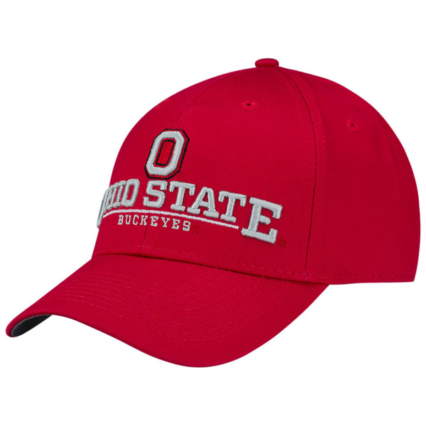 "Ohio State Buckeyes ""O"" + Ohio State Structured Adjustable Hat"