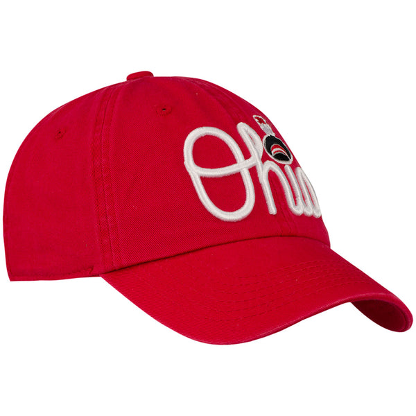 Ohio State Buckeyes Script Band Logo Unstructured Adjustable Hat