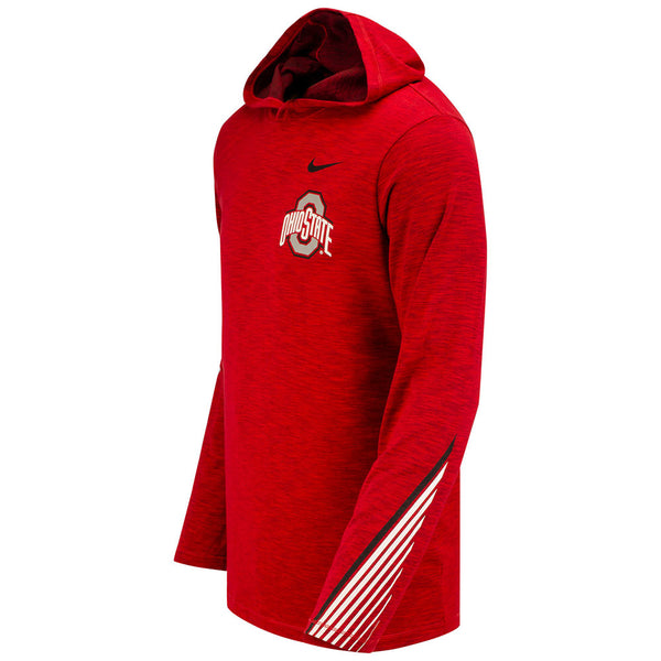Ohio State Buckeyes Nike Long Sleeve Sideline Hooded T-Shirt