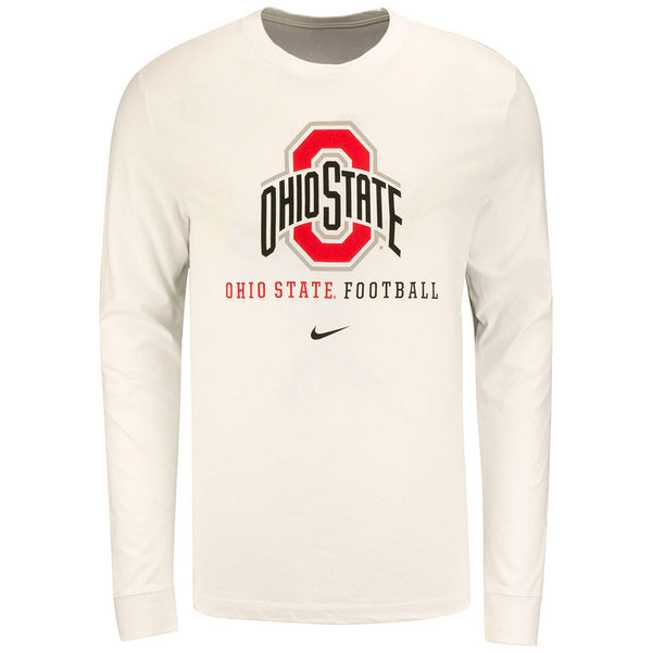 Ohio State Buckeyes Nike Long Sleeve Wordmark Football T-Shirt
