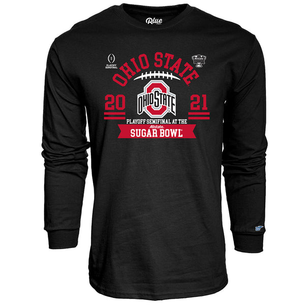 Ohio State 2020 Football Wordmark Playoff Bound Long Sleeve T-Shirt