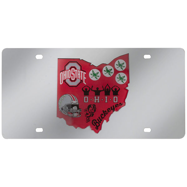 Ohio State Buckeyes Icons License Plate