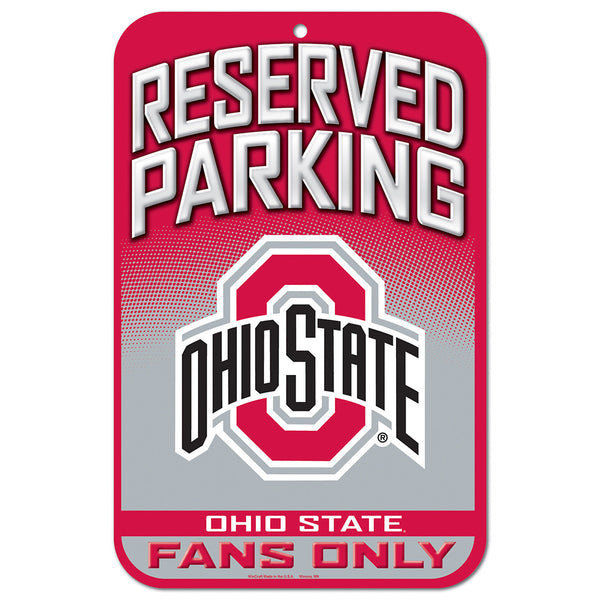 "Ohio State Reserved Parking Sign 11"" X 17"""