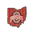 Ohio State Buckeyes State Shape Wood Sign