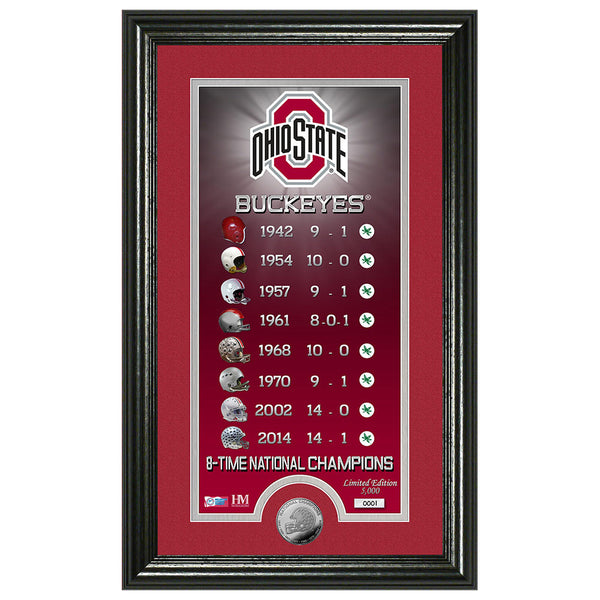 "Ohio State University ""Legacy"" Supreme Minted Coin Panoramic Photo Mint"