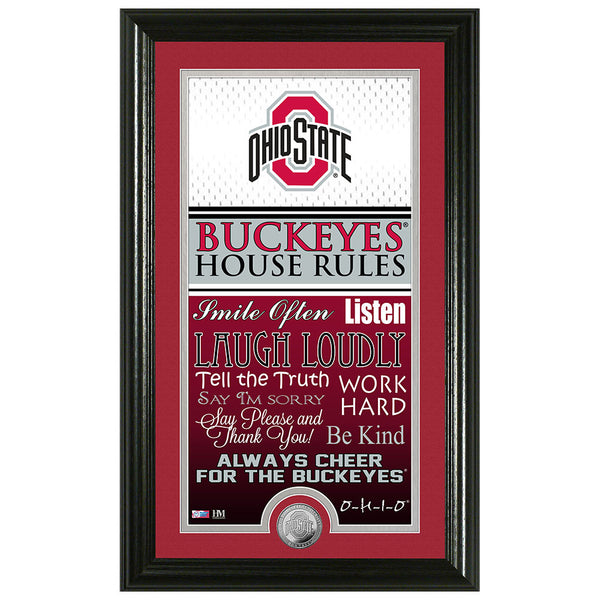 "Ohio State University ""House Rules"" Supreme Bronze Coin Photo Mint"