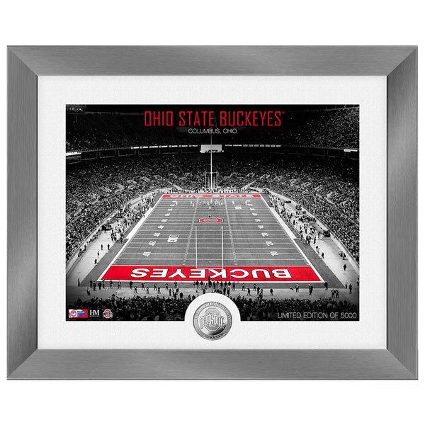 Ohio State Buckeyes Art Deco Stadium Silver Coin Photo Mint