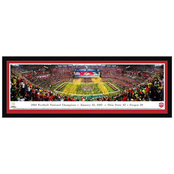 Ohio State 2014 Football National Champions Select Framed Panorama
