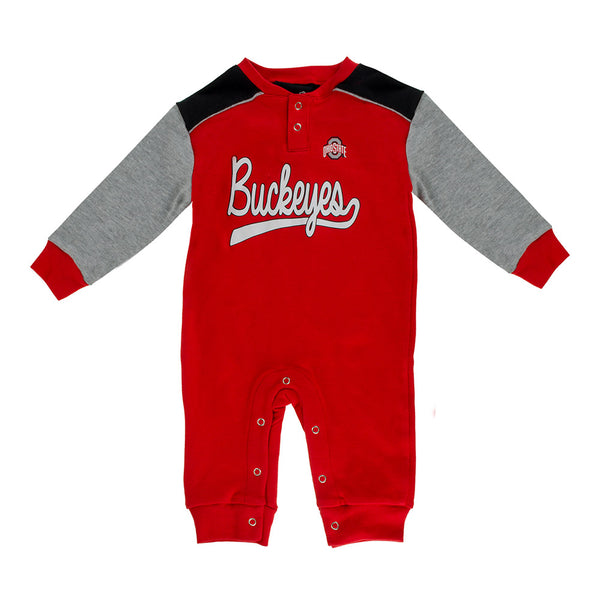 Newborn Ohio State Long Sleeve  Coverall