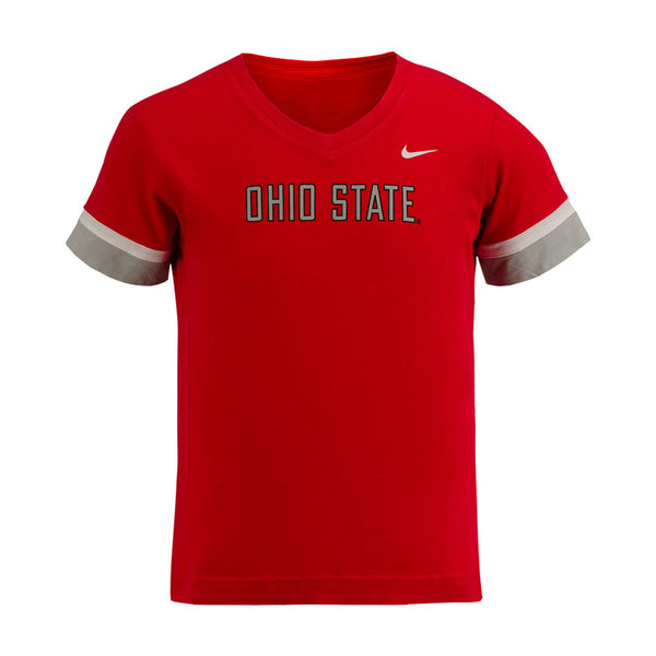 Girls Ohio State Buckeyes Nike Fan V-Neck T-Shirt