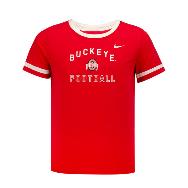 Girls Ohio State Nike Fan Ringer T-Shirt