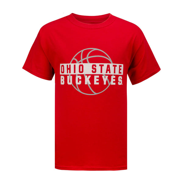 Youth Ohio State Buckeyes Shadow Basketball T-Shirt