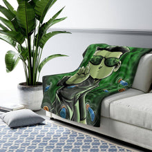 "Load image into Gallery viewer, ""Neo"" 50""x60"" - Meents Illustrated Authentic - Sherpa Fleece Blanket - JAXGFX"