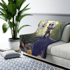 """Night Before Christmas"" 50""x60"" - Meents Illustrated Authentic - Sherpa Fleece Blanket - JAXGFX"
