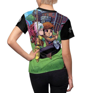 """Gambit & Rogue"" - Meents Illustrated Authentic - Full Sublimated Cut & Sew Tee - JAXGFX"