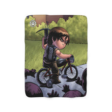 "Load image into Gallery viewer, ""Daryl"" 50""x60"" - Meents Illustrated Authentic - Sherpa Fleece Blanket"
