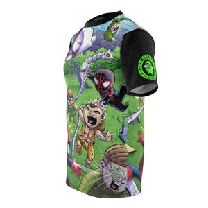 """Sinister 6 Playground"" - Meents Illustrated Authentic - Full Sublimated Cut & Sew Tee - JAXGFX"
